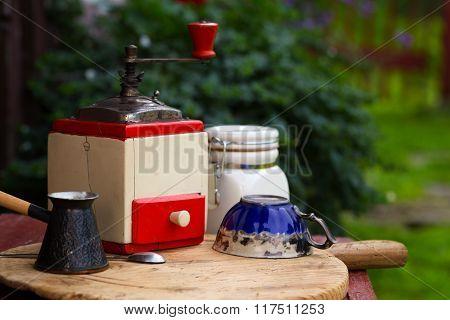 Old Rural Coffee Grinder