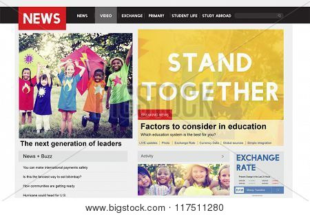 Stand Together Collaboration Cooperation Corporate Concept