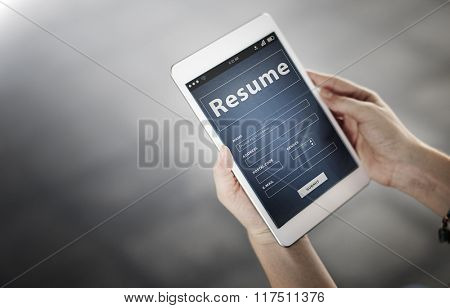 Resume Profile Personal Job Career Recruitment Concept