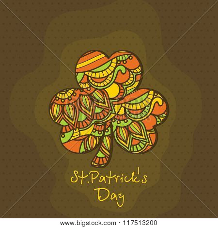 Beautiful floral design decorated Shamrock Leaf for Happy St. Patrick's Day celebration.