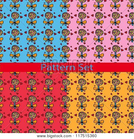 Set Of Patterns With Colored Candies