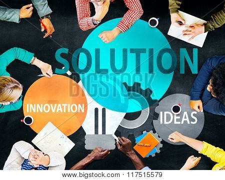 Solution Strategy Ideas Innovation Creativity Concept