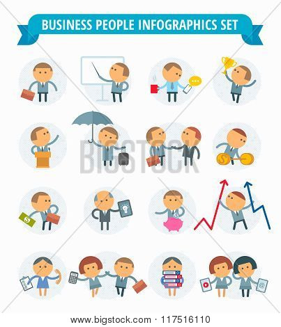 Business People Infographic Set