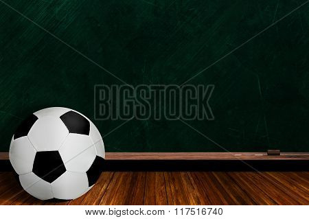 Soccer Ball And Chalk Board Background