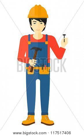 Cheerful repairman engineer.