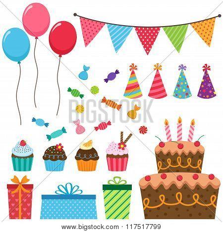 Birthday party elements