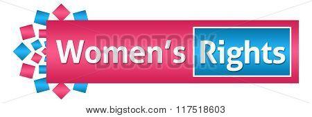 Womens Rights Pink Blue Circular Horizontal