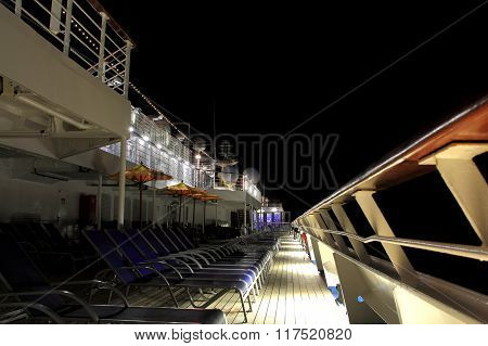 Cruiseship Night Walk Space