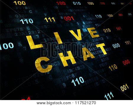 Web design concept: Live Chat on Digital background