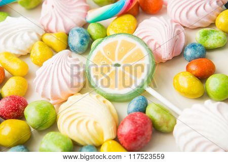 Assorted Jelly Beans border with copyspace