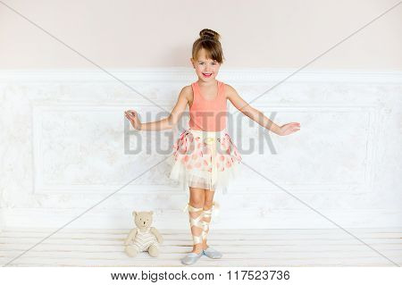 The Girl The Ballerina With Flowers