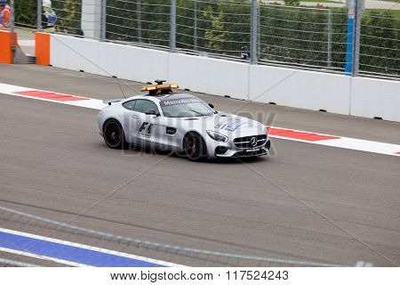 The Safety car. Formula One. Sochi Russia