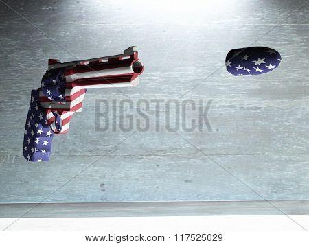 USA Gun Fires Bullet