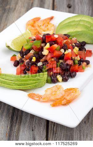 Bean Salad Dish On Table