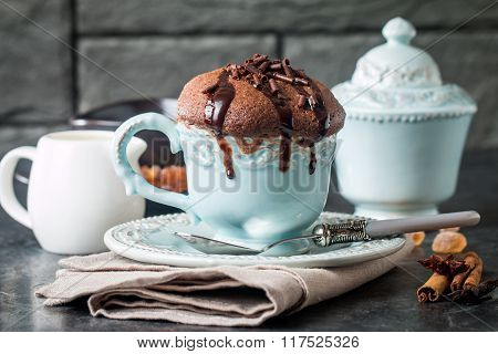 Chocolate Souffle With  Chocolate