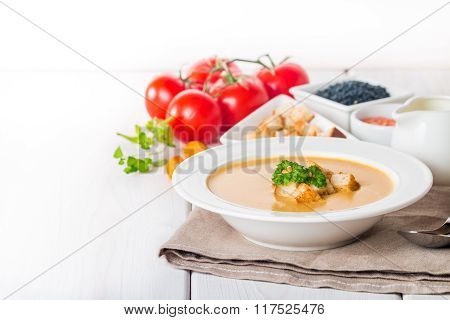 Vegetarian Lentil Cream Soup