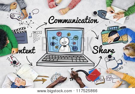 Communication Connection Social Network Concept