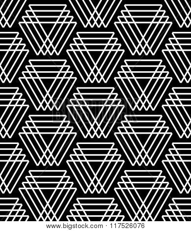Seamless pattern with triangle elements. Geometric texture. Vector art.