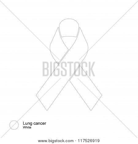 lung cancer ribbon vector