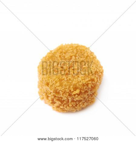 Breaded crab ball isolated