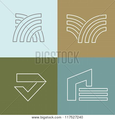 Vector set of logo