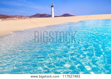Morro Jable Matorral beach Jandia in Pajara of Fuerteventura at Canary Islands