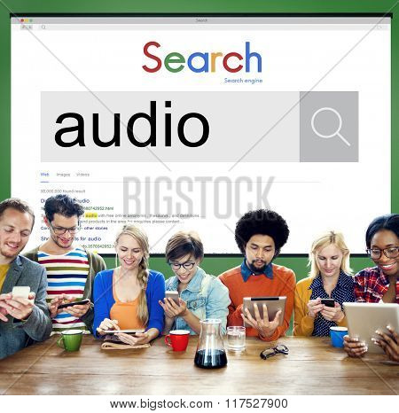 Audio Sound Music Recording Concept