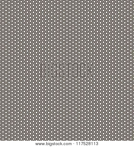 Seamless abstract 3D background - corrugated surface hexagons.