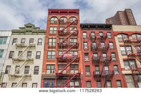 Apartment Buildings In Chinatown, Manhattan
