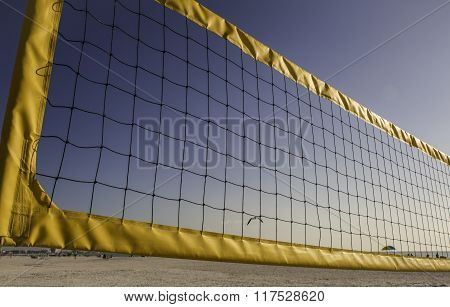Volleyball Net Closeup
