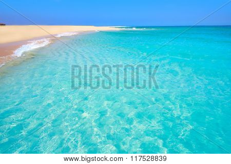 Jandia beach Risco el Paso Fuerteventura at Canary Islands of Spain