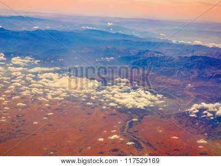 Aerial view of Morocco Atlas in Africa