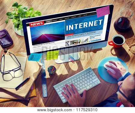 Internet Technology Connection Online Information Concept