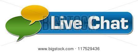 Live Chat Comment Symbols Blue Stripe