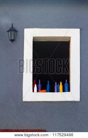 Window On A Plaster Wall.
