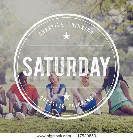 Saturday Holiday Vacation Weekend Break Concept