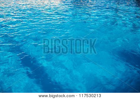 Water Texture In A Swimming Pool Pattern Background