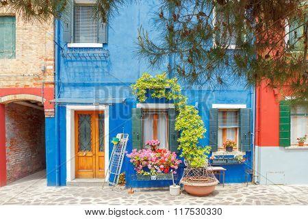 The island of Burano. Italy.