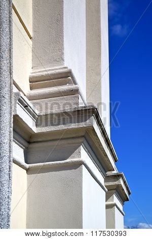 Sumirago Lombardy Italy  Varese    Wall Of A Curch Broke Brike