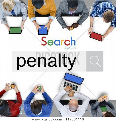 Penalty Fine Justice Punishment Rules Law Legal Concept