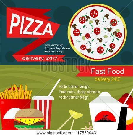 Fast Food Banner Design Concept.