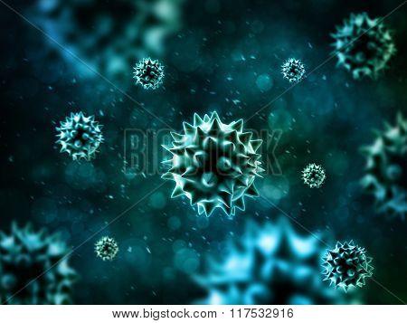 Bacteria 3D Rendering