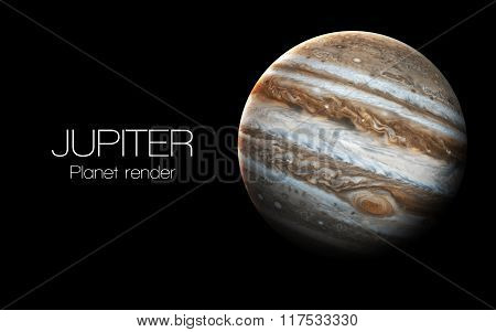Jupiter - High resolution 3D images presents planets of the solar system. This image elements furnis