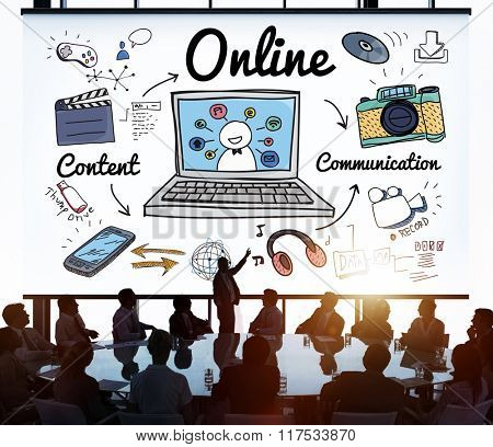 Online Connection Internet Web Social Networking Concept
