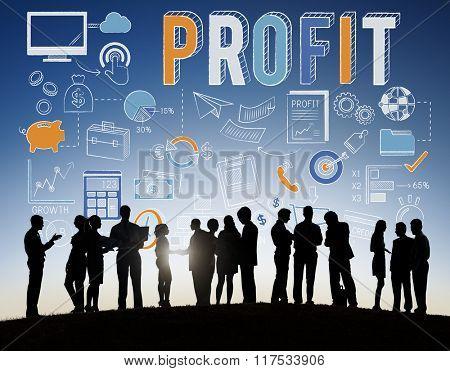 Revenue Profit Sales Finance Concept