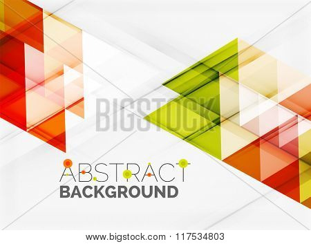 Transparent overlapping triangles on white. Business or technology minimal futuristic template