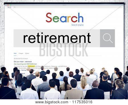 Retirement Plan Wealth Worth Security Management Concept