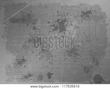 Grey splatter abstract background