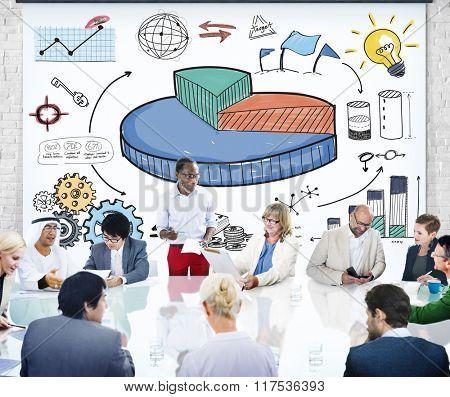 Graph Shares Sales Revenue Research Business Concept