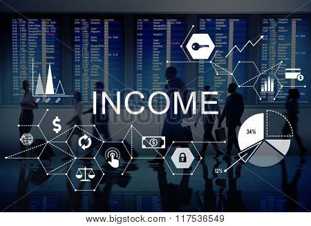 Income Salary Sales Return Money Concept